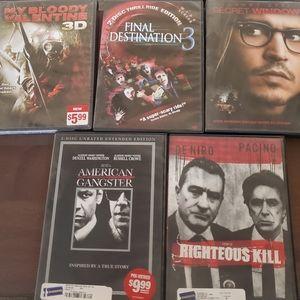 Horror/ thriller DVD pack! 😱